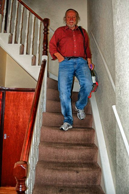 Egils Coming Down The Stairs After Fixing God-Knows-What…